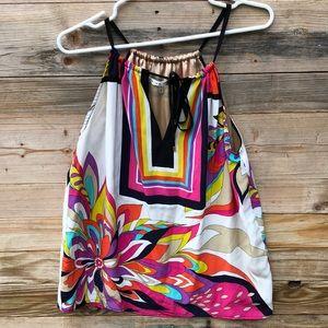 Trina Turk | Colorful Silk Tank Size Medium